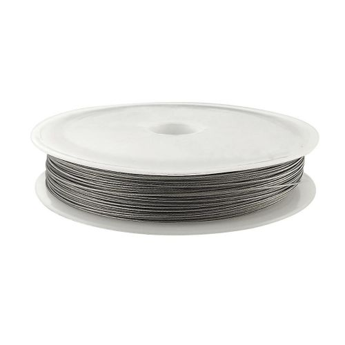 Jewellery wire / surgical steel / 0.38mm / silver / 43m