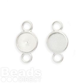 Silver Plated Charm Setting Pack 2 for 8mm Chaton