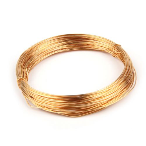 X Gold Plated Copper Wire 0.6mm 10metre Coil
