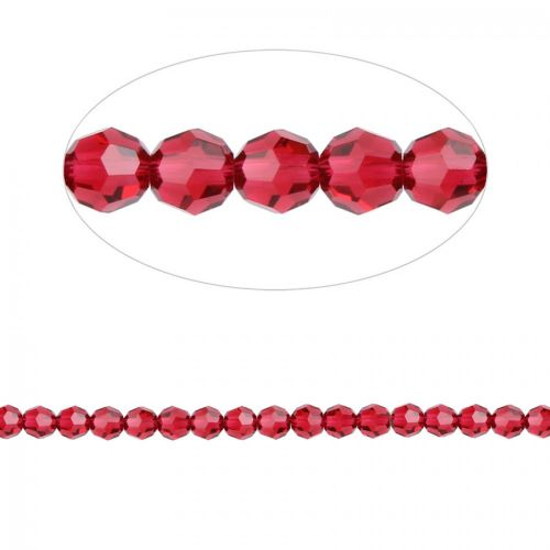 5000 Swarovski Crystal Faceted Round Beads 4mm Scarlet Pk12