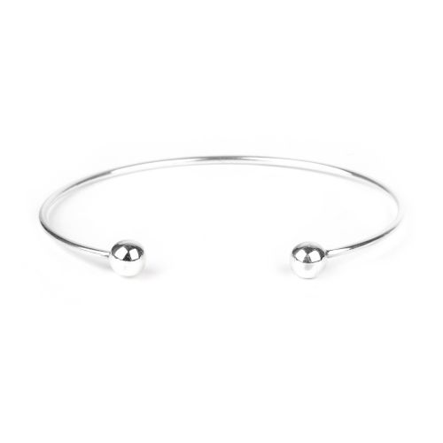 Sterling Silver 925 Screwable Ball End Bangle Base 6mm Pk1