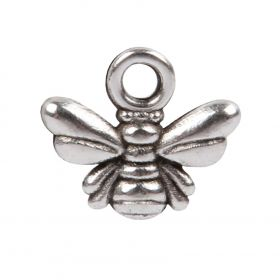 Antique Silver Zamak Small Bee Charm 7x11mm Pk5