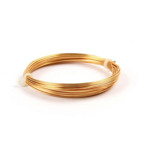 Gold Coloured Copper Wire 0.8mm 6metre Coil