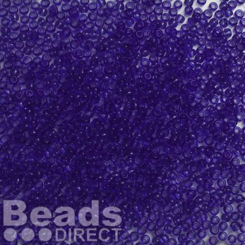 Toho Size 11 Round Seed Beads Transparent Sapphire 10g