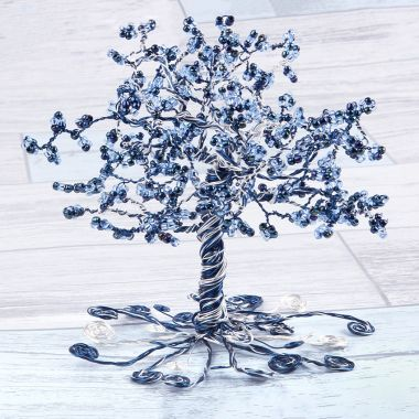 Frosty Beaded Wire Tree