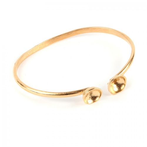 Gold Plated Brass Bangle Base for SS39 60mm Pack 1