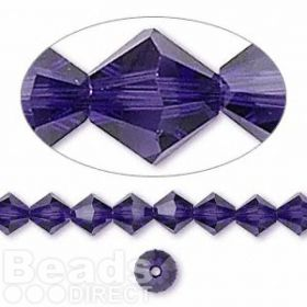 5328 Swarovski Crystal Bicones Xillion 6mm Purple Velvet Pk24