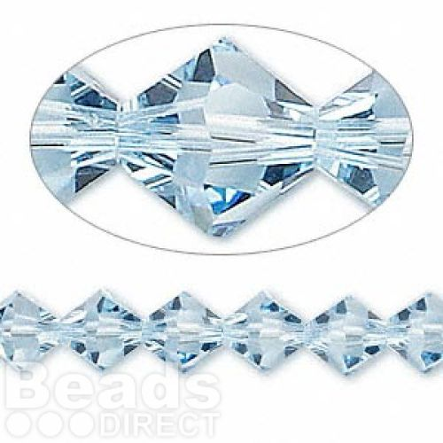 5328 Swarovski Crystal Bicones Xillion 8mm Aquamarine Pk6