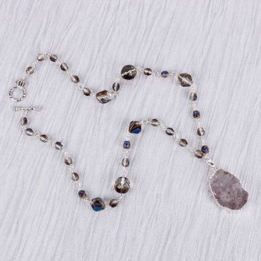 Druzy River Necklace