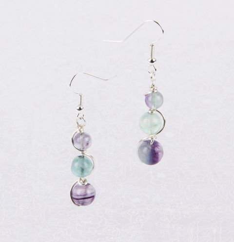 Fluorite Twist Earrings
