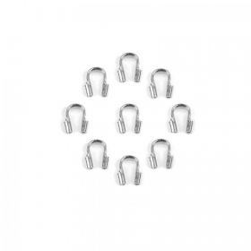 Rhodium Plated Wire Guardian Pk20