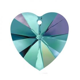 6228 Swarovski Crystal Hearts 10mm Blue Zircon AB Pk288