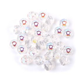 Preciosa Czech Glass Hill Bead 6mm Crystal AB Pk30