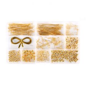 Gold Plated Findings Kit 10 Styles Includes Box