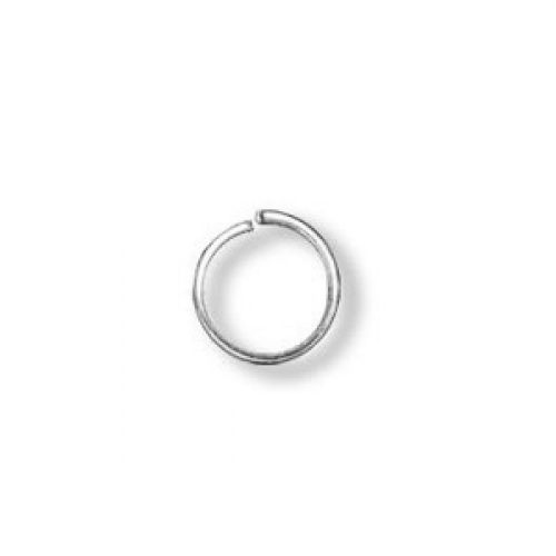Jumprings silver-plated 6mm. Pack of 100