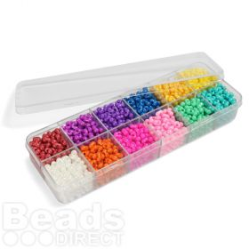 Preciosa Caribbean Cruise Seed Bead Selection 12x11g Box Set