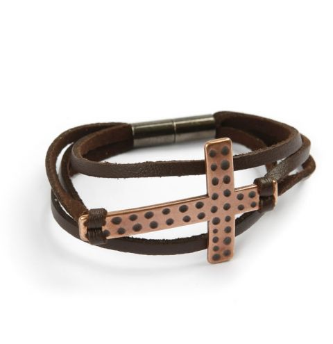 Brown Cross Memory Bracelet