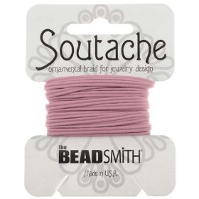 Mauve Polyester Soutache Cord Beadsmith 3yds