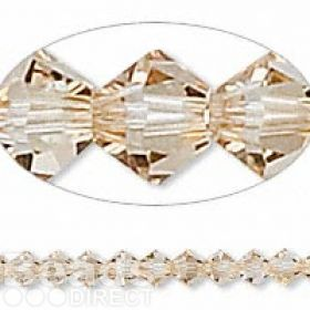 5328 Swarovski Crystal Bicones Xillion 4mm Golden Shadow Pk24