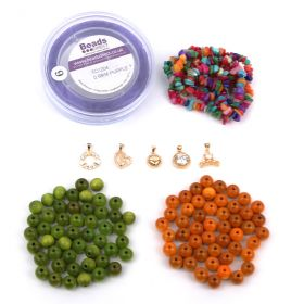 Beads Direct Cherish Semi Precious and Wood Bracelets - Multi