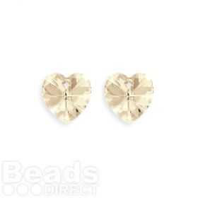6228 Swarovski Crystal Hearts 10mm Light Silk Pk2