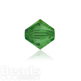 5328 Swarovski Crystal Bicones 4mm Fern Green Pk1440