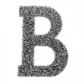 Swarovski Crystal Letter 'B' Self-Adhesive Fabric-It Black CAL Pk1