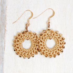 Rose Gold Crochet Earring Kit by Dorothy Wood