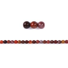 Portugal Agate Round Semi Precious Beads 6mm Pk20