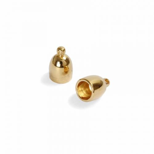 Bullet End Cap Gold Plated 6mm PK2 Kumihimo Braid ends