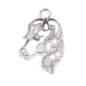 Silver Plated Unicorn/Horse Charm 16x24mm Pk1