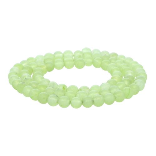 Agate / round / 4mm / bright green / 95pcs
