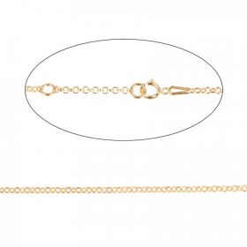 Gold Plated Sterling Silver 925 Necklace Chain with Clasp Adjustable 40-46cm