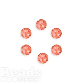 2088 Swarovski Crystal Flat Backs SS34 7mm Padparadscha F Pk6