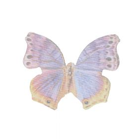 Butterfly wings / organza / 33x43mm / multicoloured / 4pcs