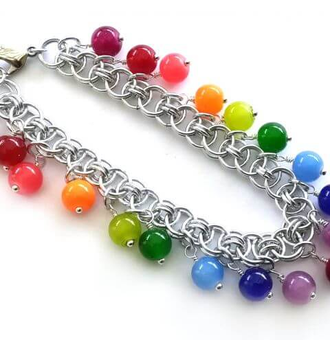 How to make a chainmaille bracelet - step by step jewellery making tutorial