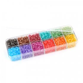 Rainbow Hex Shape Seed Bead Selection 12x11g Box Set