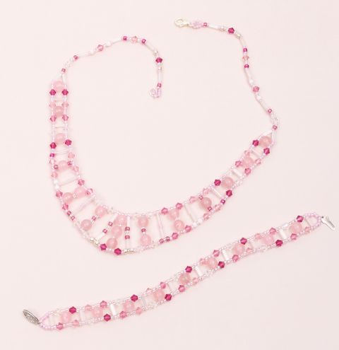 Crystal Ladder Jewellery Set