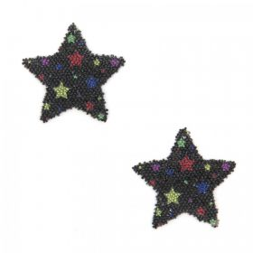 Swarovski Crystal Transfer Fabric-It Self-Adhesive Jet/Multi Star Pk2