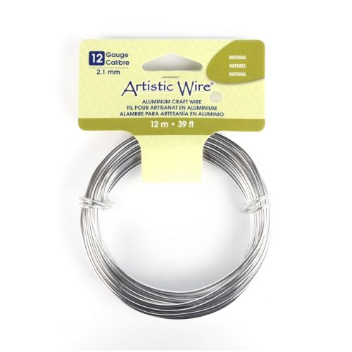 X Beadalon Silver Craft Wire Aluminium 12gauge(2.1mm) 12metre coil