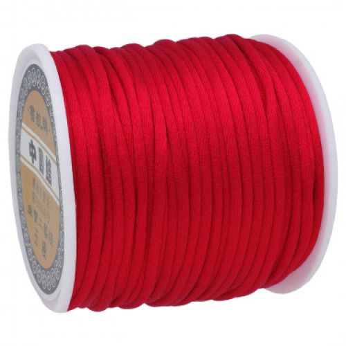 Satin cord / 2mm / red / 30m