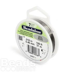 Beadalon 7 Strand Flexible Beading Wire 'Bright' 0.018in 100ft