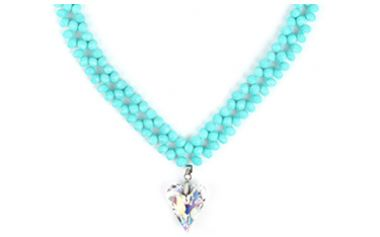 Beads Of The Week: Sky Blue Faceted Crystal Glass Beads
