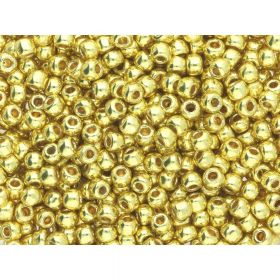 TOHO™ / Round 11/0 / Permafinish Galvanized / Yellow Gold / 10g / ~ 1100pcs