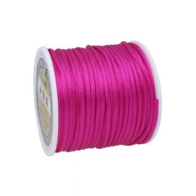 Satin cord / 2mm / dark pink / 30m