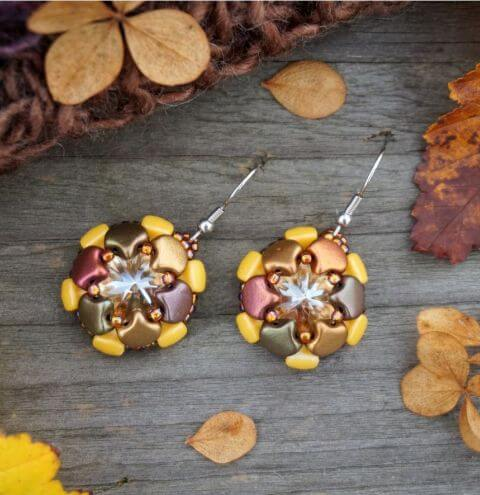How to make Earrings with Rivoli Crystals - Step by Step Tutorial