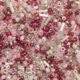 'Cherry Blossom' Seed Bead Mix Assorted Sizes/Shapes 10g