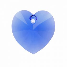 6228 Swarovski Crystal Heart Charm 17.5x18mm Majestic Blue Pk1