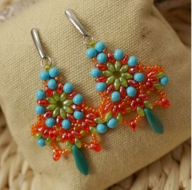 How to make boho style earrings - jewellery making step by step