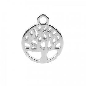 Antique Silver Zamak Small Tree of Life Charm 10mm Pk2